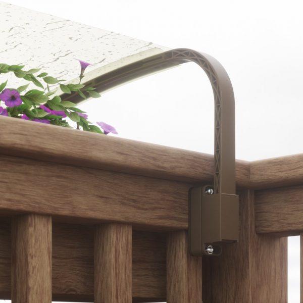 Balcone in legno da dietro