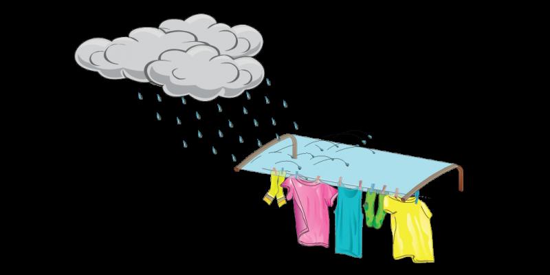 Protezione per stendino dalla pioggia