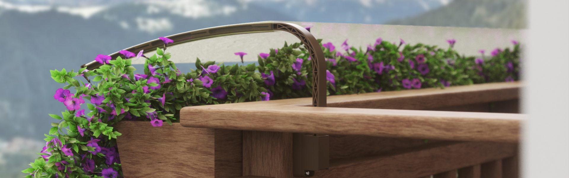Sistema di protezione da balcone per fiori