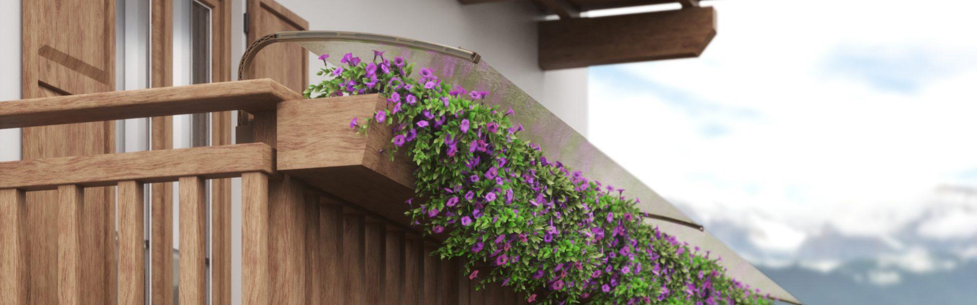 Telo di protezione per fiori da balcone