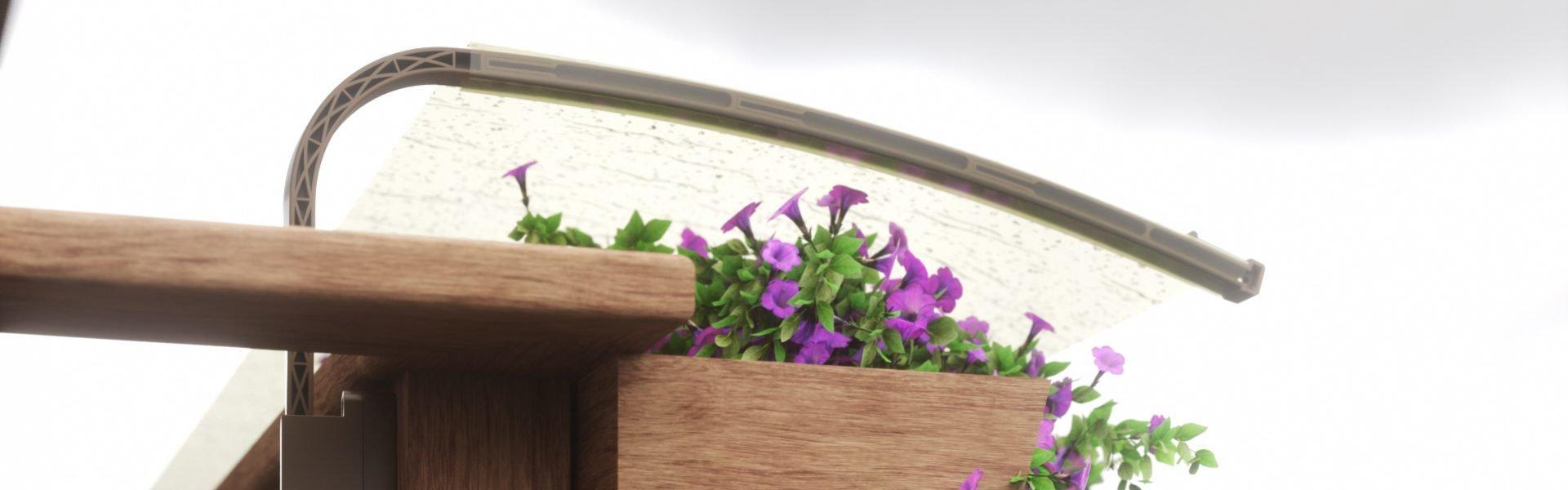 Protezione da balcone per fiori e bucato