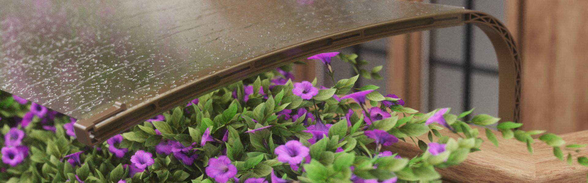Copertura per fiori e stendibiancheria da balcone