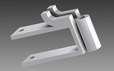 supporto in ferro ad innesto per passamano in metallo